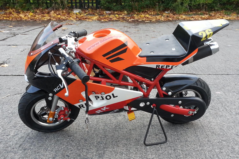 PS50 Rocket Sport 50cc Pocket Bike Mini Moto, Nitro Motors, Mini Bikes Store