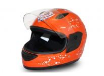 Junior Full Face Helmet - Orange