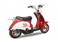 "Mini Electric Retro Scooter - 350W 24V -  6.5"" Wheels - 2x12V 12Ah Batteries - Vespa Style"